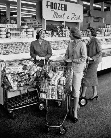 ladies in supermarket